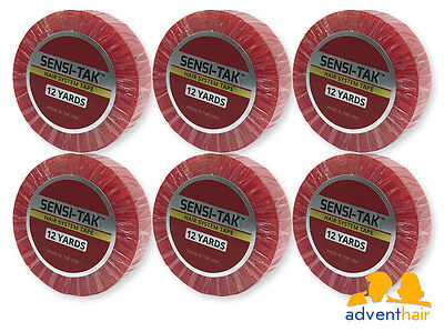 Red Sensi-tak Roll 3/4 x 12 yds WALKER lace wig toupee hairpiece - 6 Rolls