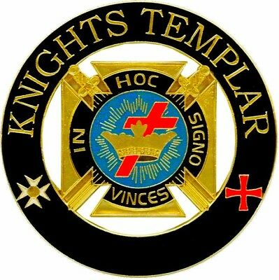 Freemasonry York Rite Deluxe Large Knights Templar Lapel Pin Regalia