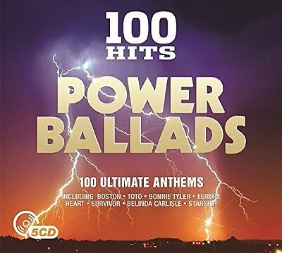 Various Artists - 100 Hits: Power Ballads / Various [New CD] UK - Import