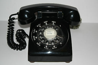 "Black "" Northern Telecom"" Rotary Dial 1968 Made in Canada Telephone"