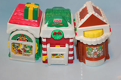 Fisher Price Little People Christmas Village...3 Building Only