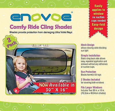 "NEW Enovoe Car Sun Shade - 30"" x 16"" - (2 Pack ) 