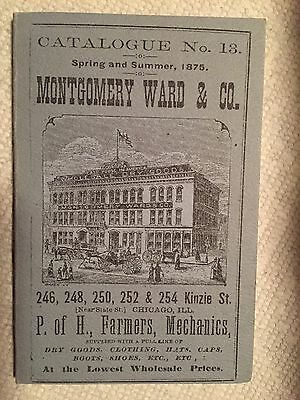 Vintage Montgomery Ward & Co. Catalogue Chicago, Illinois 1875