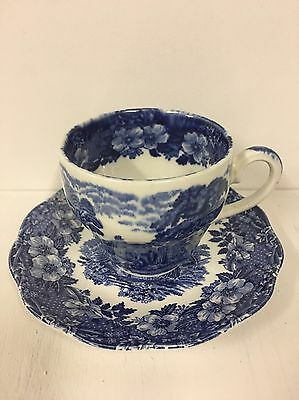 Enoch Wedgwood Tunstall 'Woodland' Tea Cups and Saucers **Afternoon High Tea**