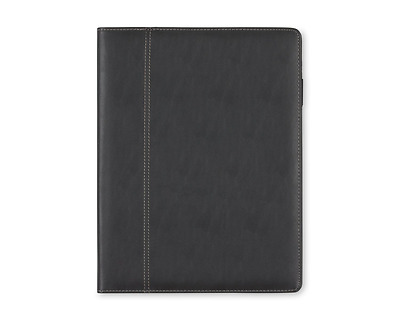 """Blue Sky Professional Leather Pad folio, 9.5"""" x 12"""", Black, Paper Notepad Includ"""