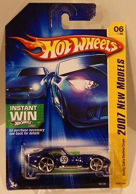 2007 Hot Wheels New Models Shelby Cobra Daytona Coupe Blue