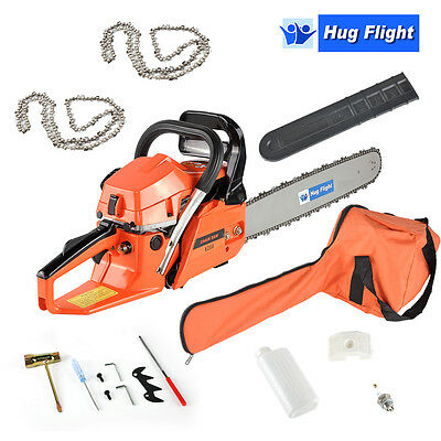 "Hug Flight 62cc 20"" Top Handle Petrol Chainsaw Topping Chain Saw with 2 Chains"