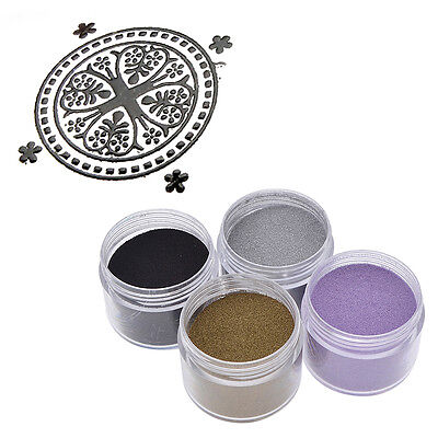 DIY Metallic Embossing Powder Craft Stamping Supplies Heating Shiny Dark Gold