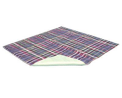 "Reusable Absorbent Underpad for Pets 34x36"" Dog Cat Pee Pad Washable Plaid C2012"