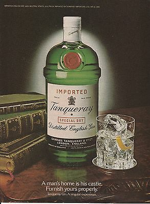 Vintage 1980 Tanqueray English Gin print ad  Great to frame!