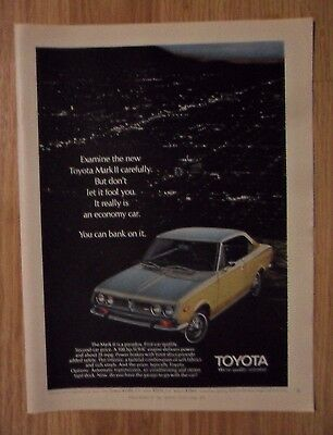 1970 Print Ad Toyota Mark II Automobile ~ Don't Let it Fool You. It's an Economy