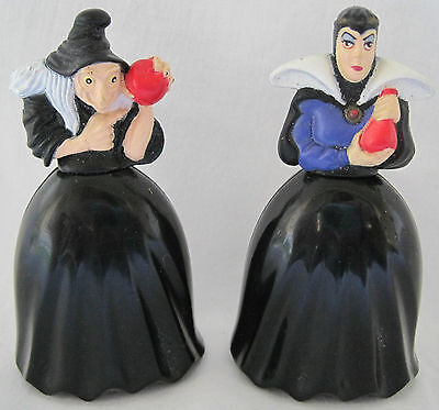 Vintage Disney Snow White Evil Queen And Old Hag Plastic Figurines