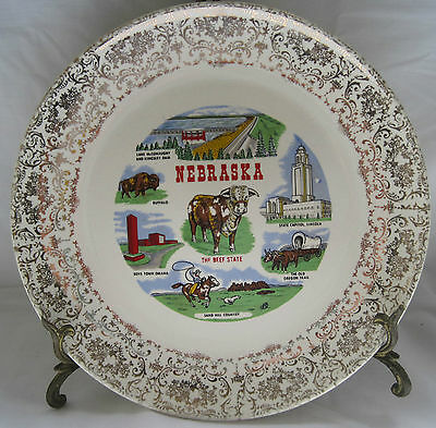 State Of Nebraska - Beef State -  Vintage China Collector Plate