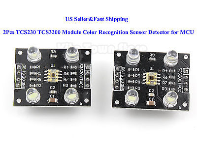 2Pcs TCS230 TCS3200 Module Color Recognition Sensor Detector for MCU Arduino US