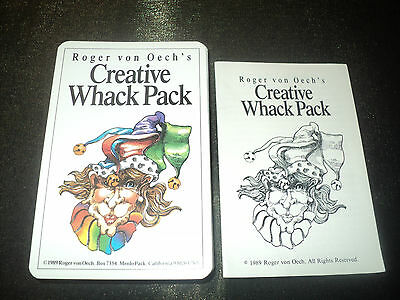 Vintage 1989 Creative Whack Pack Oracle Cards Deck - Roger Von Oech's Not Tarot