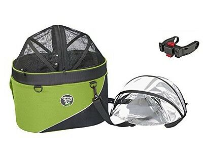 DoggyRide Cocoon Bike Basket for Pets, Green