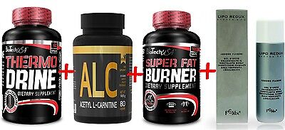 kit bruciagrassi -termogenico dimagrante+alc ,acetil carnitina+fat burner +crema