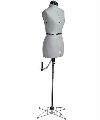 Small Adjustable Dress Form Mannequin Seamstress Sewing Torso Wardrobe Dressform