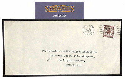 MS2032 1929 GB PUC CONGRESS Official Mail *Addressed To Delegate* V.Scarce Cover