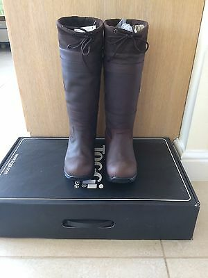 Brand New Toggi Canyon Waterproof Long Leather Country Boots Brown Size 8Euro 42