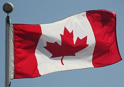 CANADA CANADIAN FLAG NEW 3x5 ft Made from outdoor satin type material USA SELLER