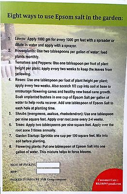 MAGNESIUM SULPHATE / EPSOM SALT-100% water soluble fertilizer for Greens 100gm