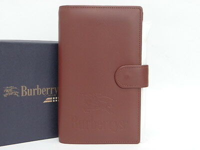 MNT Auth Burberrys Schedule Book Agenda Cover Note Brown 0 Ship 40130415700 S06F