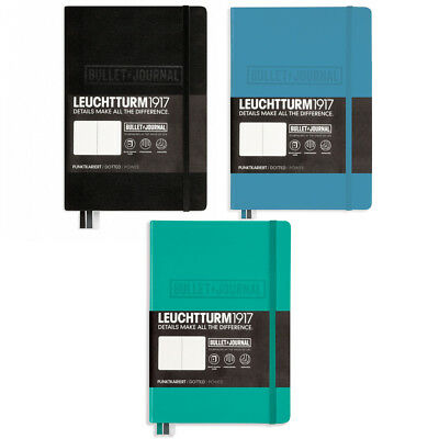 LEUCHTTURM 1917 MEDIUM A5 BULLET JOURNAL NOTEBOOK  - now available in 3 colours!