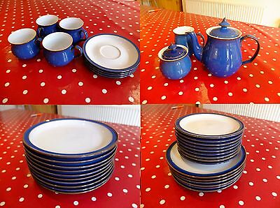 Denby Imperial Blue - Complete Dinner and Tea Service - over 50 pieces!