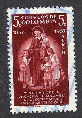 1957 Colombia 5c Cent Colombian Order St Vincent SG 926 FINE USED R18516