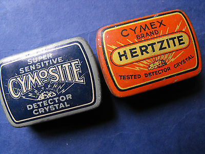 Crystal Set Parts In Vintage Tin. Free-Post
