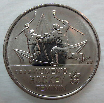 2009 Canada 25¢ Olympic Women's Hockey Brilliant Uncirculated Quarter
