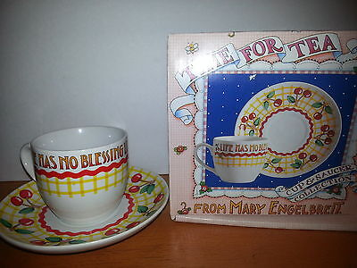 Mary Engelbrett Time For Tea Cup Saucer