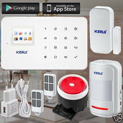 Alarm System  Home  App Wifi GSM Kit PIR infrared SIM Smart Android ISO App