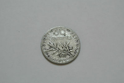 50 Centimes Ceres 1901 Peu Commune