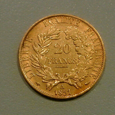 20 FRANCS OR TYPE CERES 1851 A oreille basse