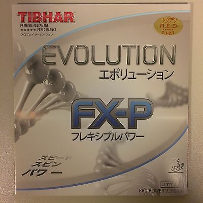 Tibhar Evolution FX-P rubber and Butterfly Promorac blade