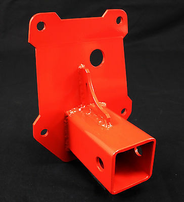 """2014 15 16 17 Polaris RZR  1000    2"""" Receiver Hitch gusset plate red"""