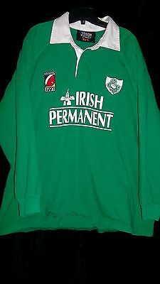 Rugby Sevens 2003 Ireland Jersey Irish Permanent Heavy Cotton Embroidered Jersey