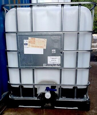 1000 Litre IBC Water Container/ Storage Tank. Sterile And Ready To Use.