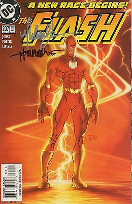DC Comics The Flash #207 Signed by Michael Turner and Howard Porter
