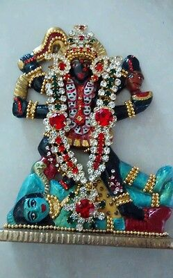 Hindu Goddess Kali Traditional Decorated Brass Figure