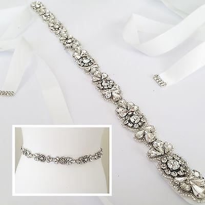 EVA Thin Bridal Sash, Wedding Belt, Sparkly Wedding Sash Rhinestone Diamante