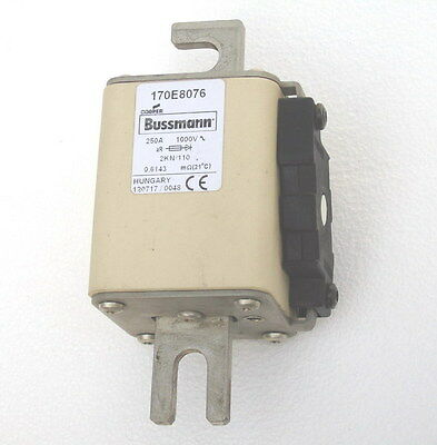 Cooper Bussman 170E8076 Made In Hungary  250A 1000V Fuse Protistor