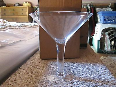 "CHAMPAGNE GLASS for CHIP DIP 12"" tall Clear Glass"