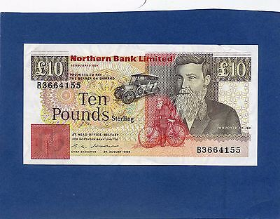 Northern Ireland Irish Northern bank 10 Pounds Banknote 1988