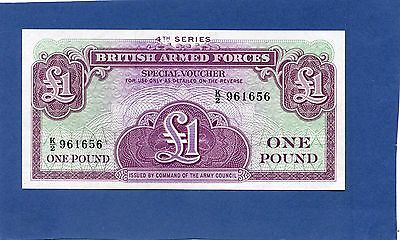 British Armed Forces OnePound £1 Special Voucher Banknote - 1962 Series 4 UNC