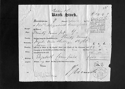 Bank of England Bank Stock Certificates 1872 and 1874