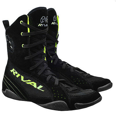 Rival Boxing Hi-Top Mesh Paneled RSX-ONE V2 Boots - Black/Lime Green