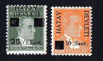 Hatay stamps. 1939 Turkish Postage Stamps Surcharged. MH